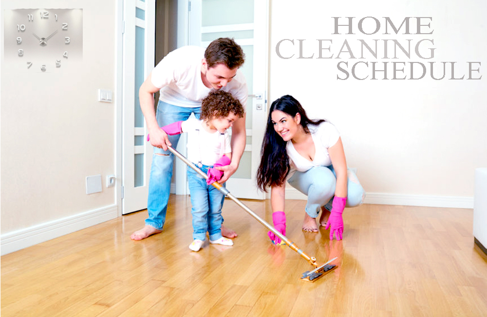 House cleaning schedule for housekeeper