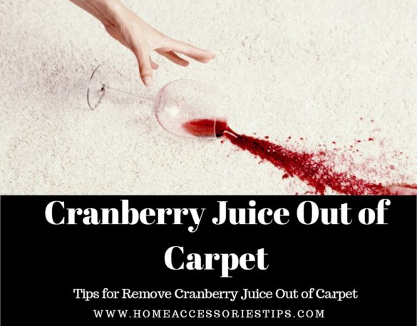 How to Get Cranberry Juice Out of Carpet